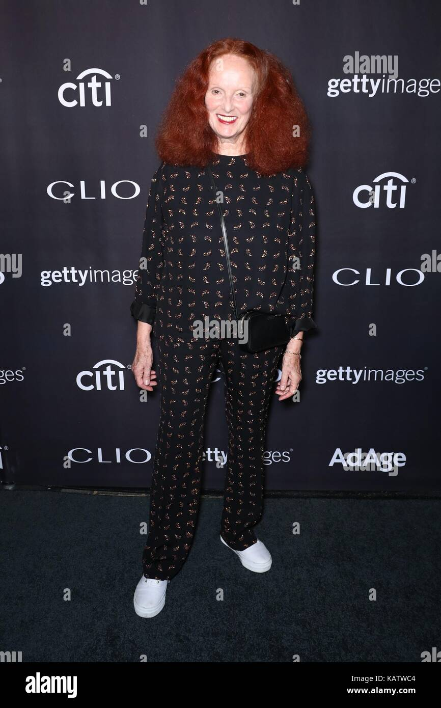 New York, NY, USA. 27th Sep, 2017. Grace Coddington at arrivals for 58th Annual Clio Awards, The Tent at Lincoln - Stock Image
