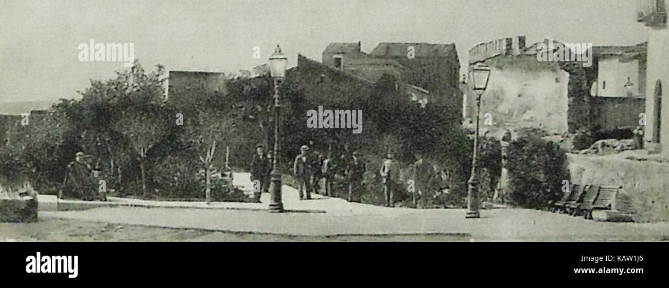 Vecchia illustrazione di Piazza Bagolino, Alcamo - Stock Image
