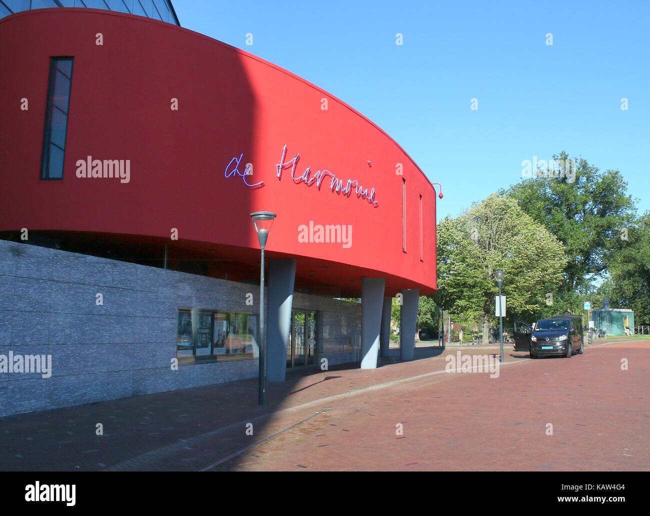 'De Harmonie', large concert-hall and theater venue in Leeuwarden, capital of Friesland, The Netherlands. - Stock Image