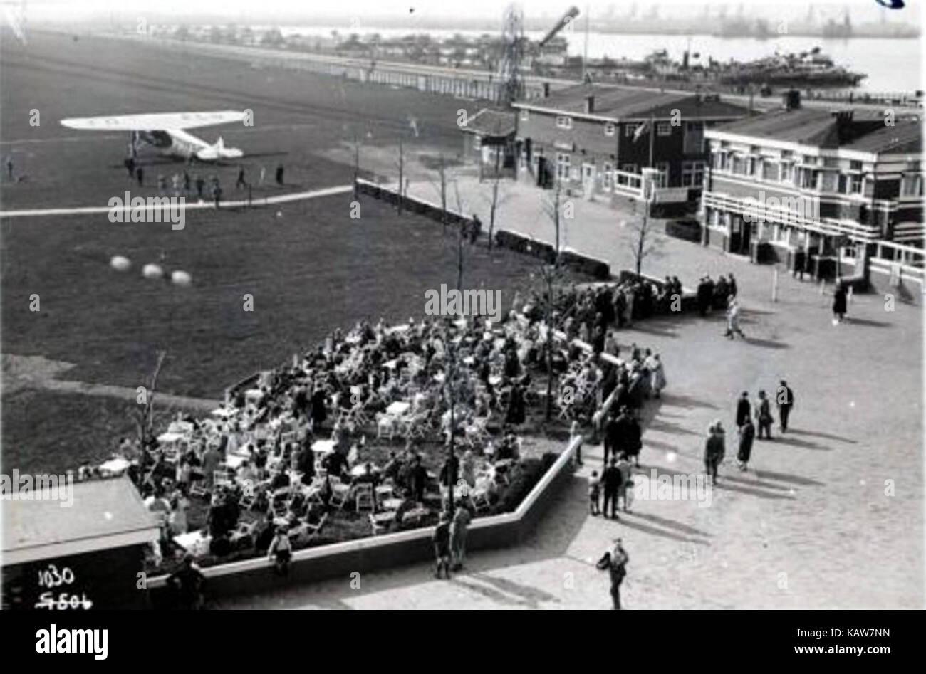 Vliegveld Waalhaven in 1920er jaren Stock Photo