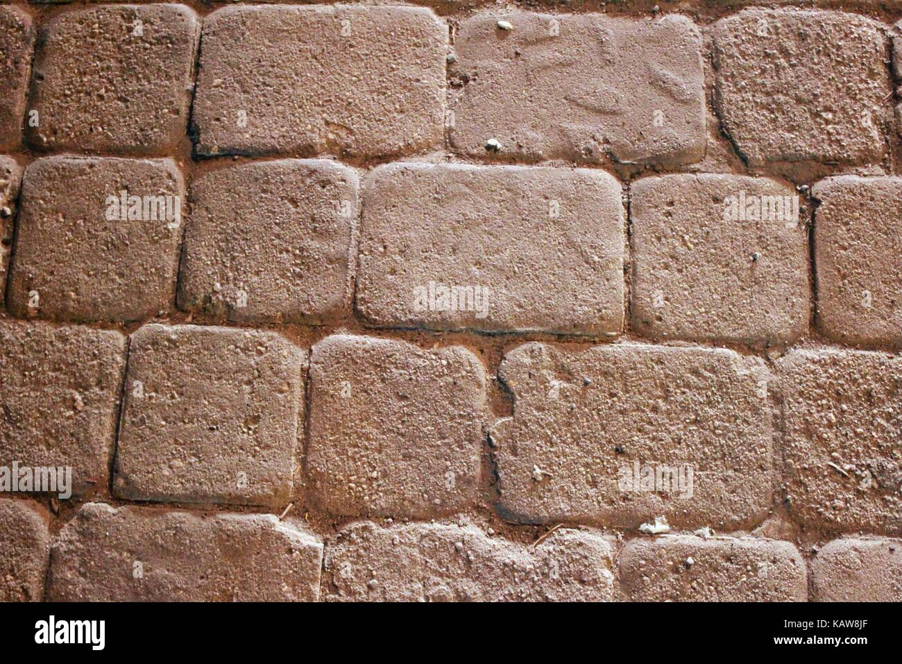 Fragment of the masonry of the Red Tower in Alanya (Turkey), which can be used in graphic design. - Stock Image