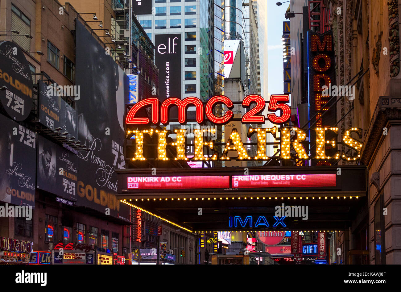 AMC 25 on 42nd Street in New York City - Stock Image