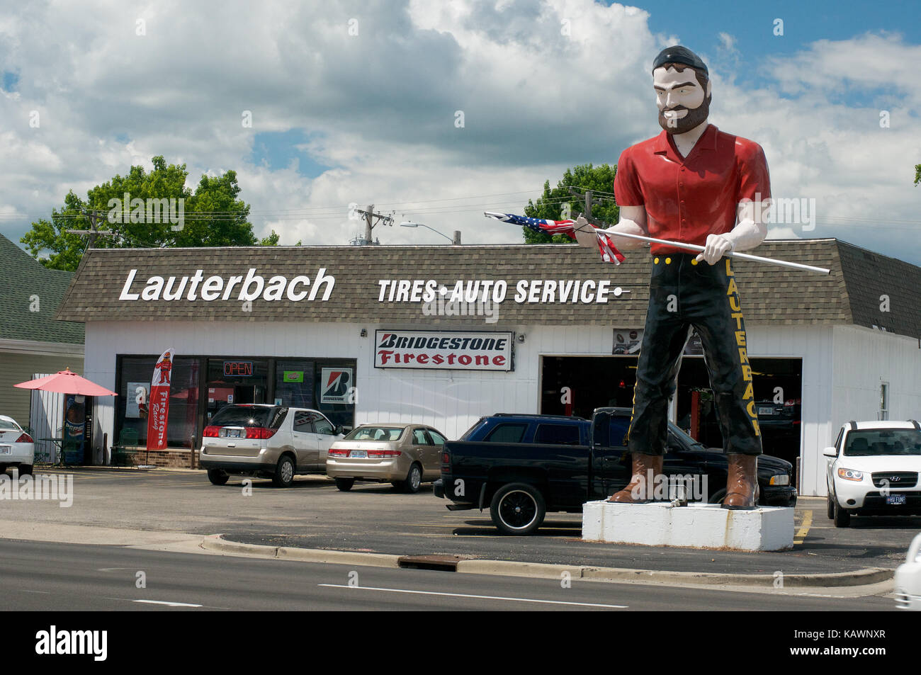 The Muffler Man Giant at Springfield, Illinois, USA - Stock Image