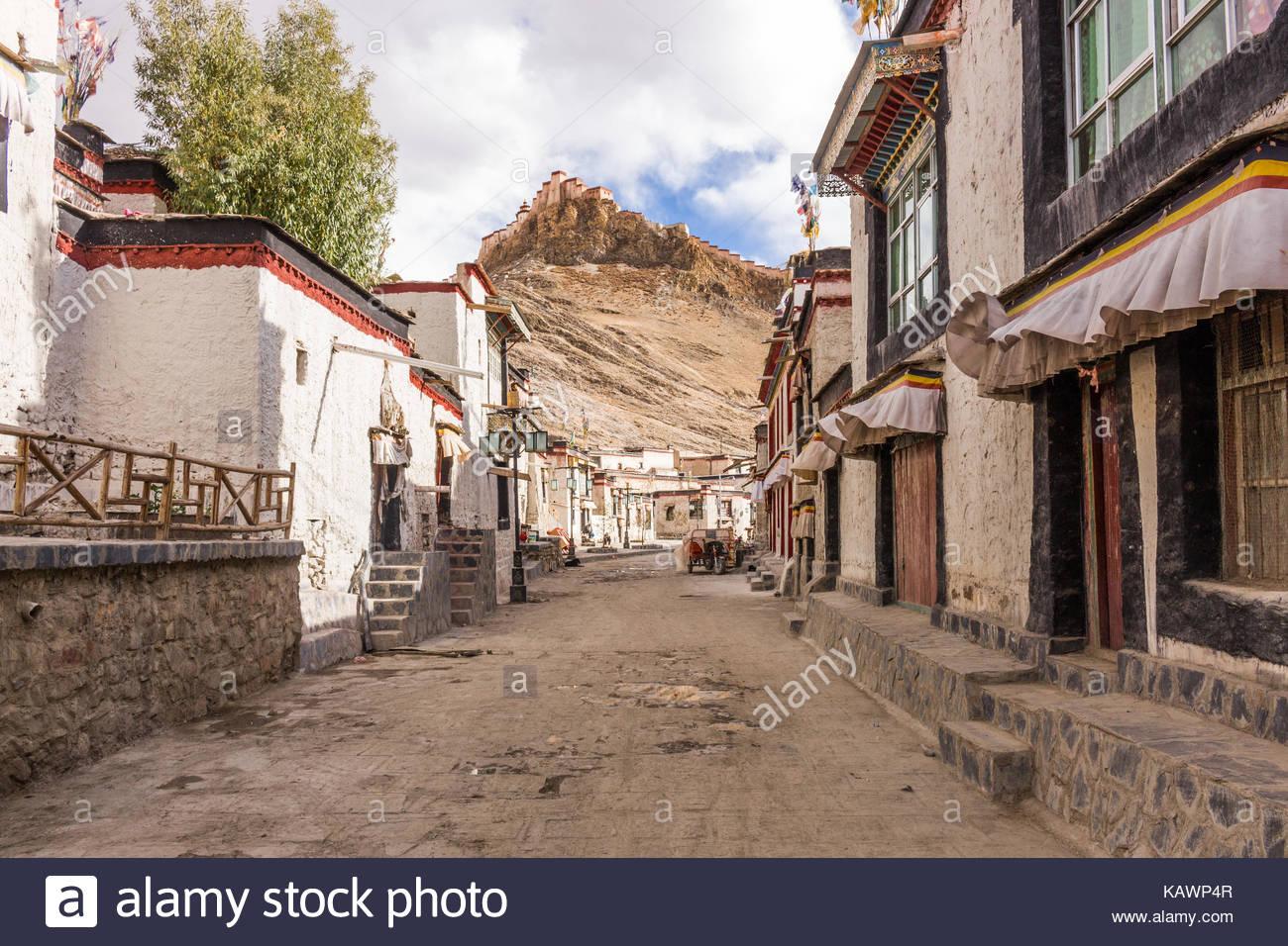 Gyantse Sidestreet, Tibet - Stock Image