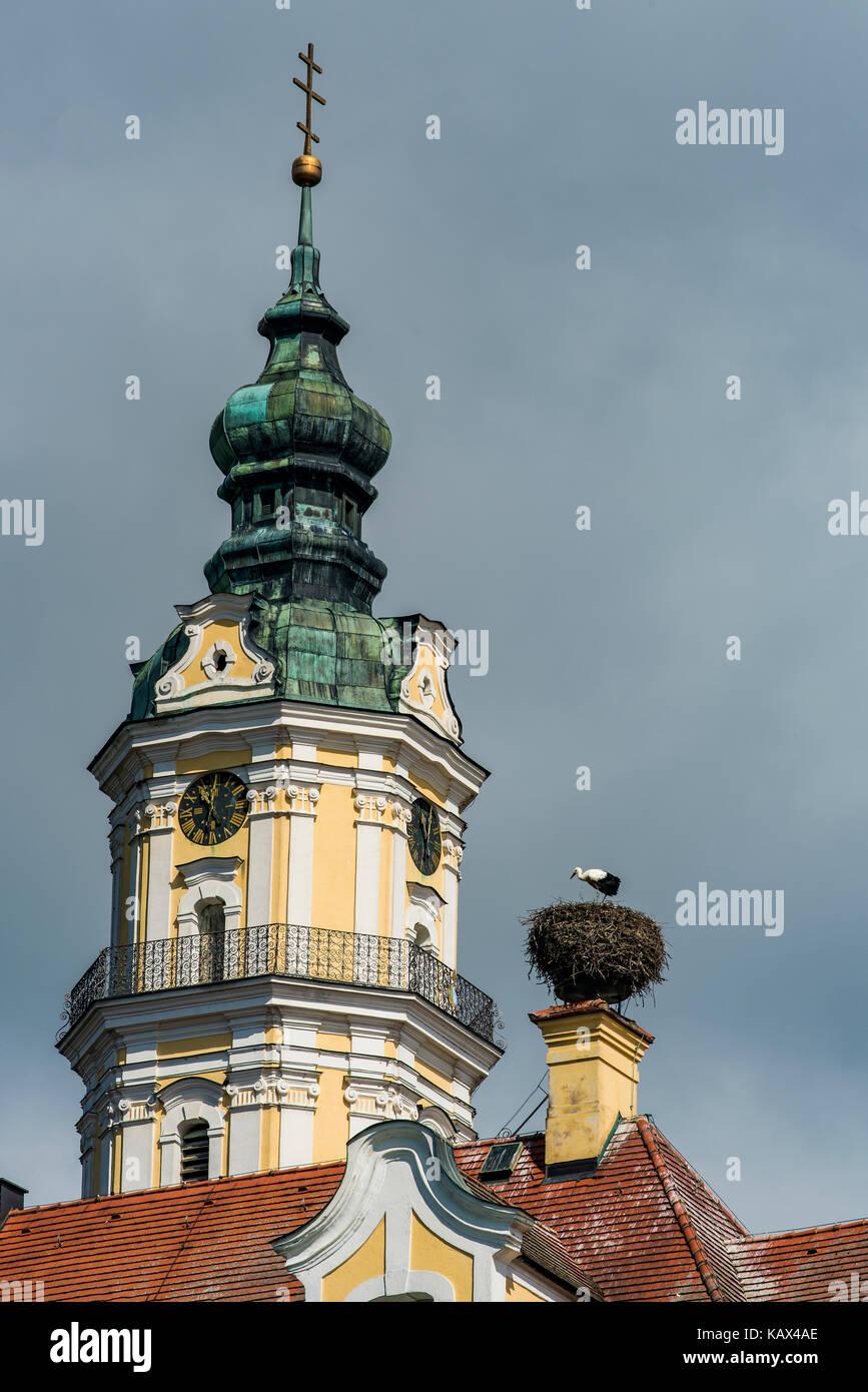 Heilig Kreuz Kirche church, Donauworth, Bavaria, Germany - Stock Image