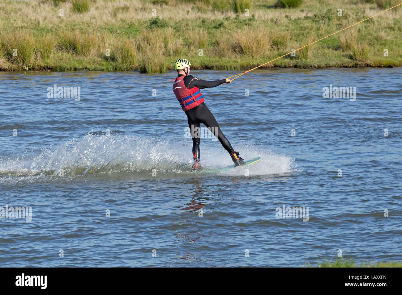 Wakepark, Baltic Sea Spa Damp, Schleswig-Holstein, Germany - Stock Image