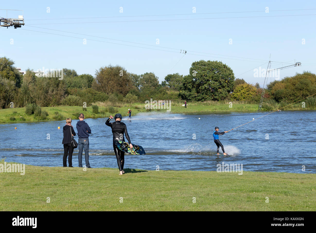 Wakepark, Baltic Sea Spa Damp, Schleswig-Holstein, Germany Stock Photo