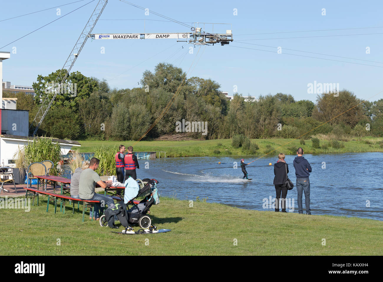Wakepark, Baltic Sea Spa Damp, Schleswig-Holstein, Germany - Stock Image