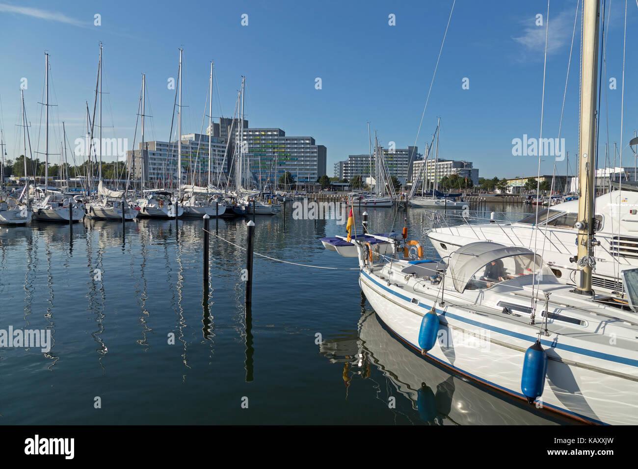 marina, Baltic Sea Spa Damp, Schleswig-Holstein, Germany - Stock Image