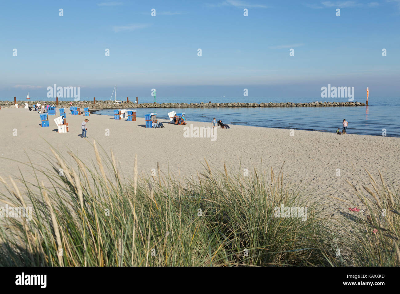 beach, Baltic Sea Spa Damp, Schleswig-Holstein, Germany - Stock Image
