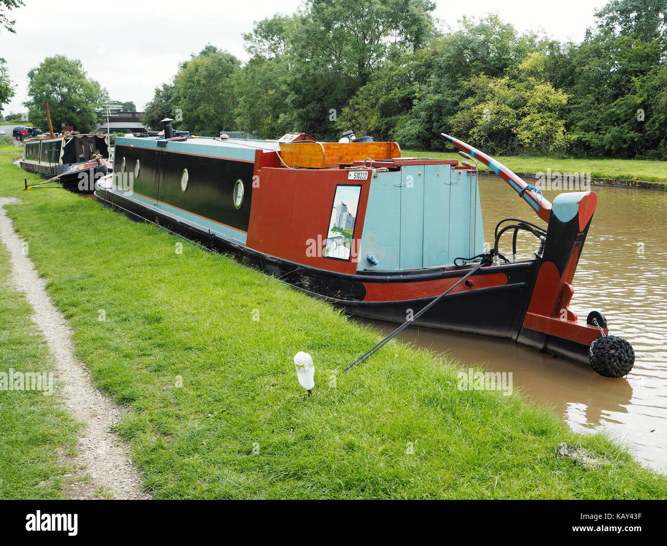 Butty narrowboat Anne built by Stowe Hill Marine - Stock Image