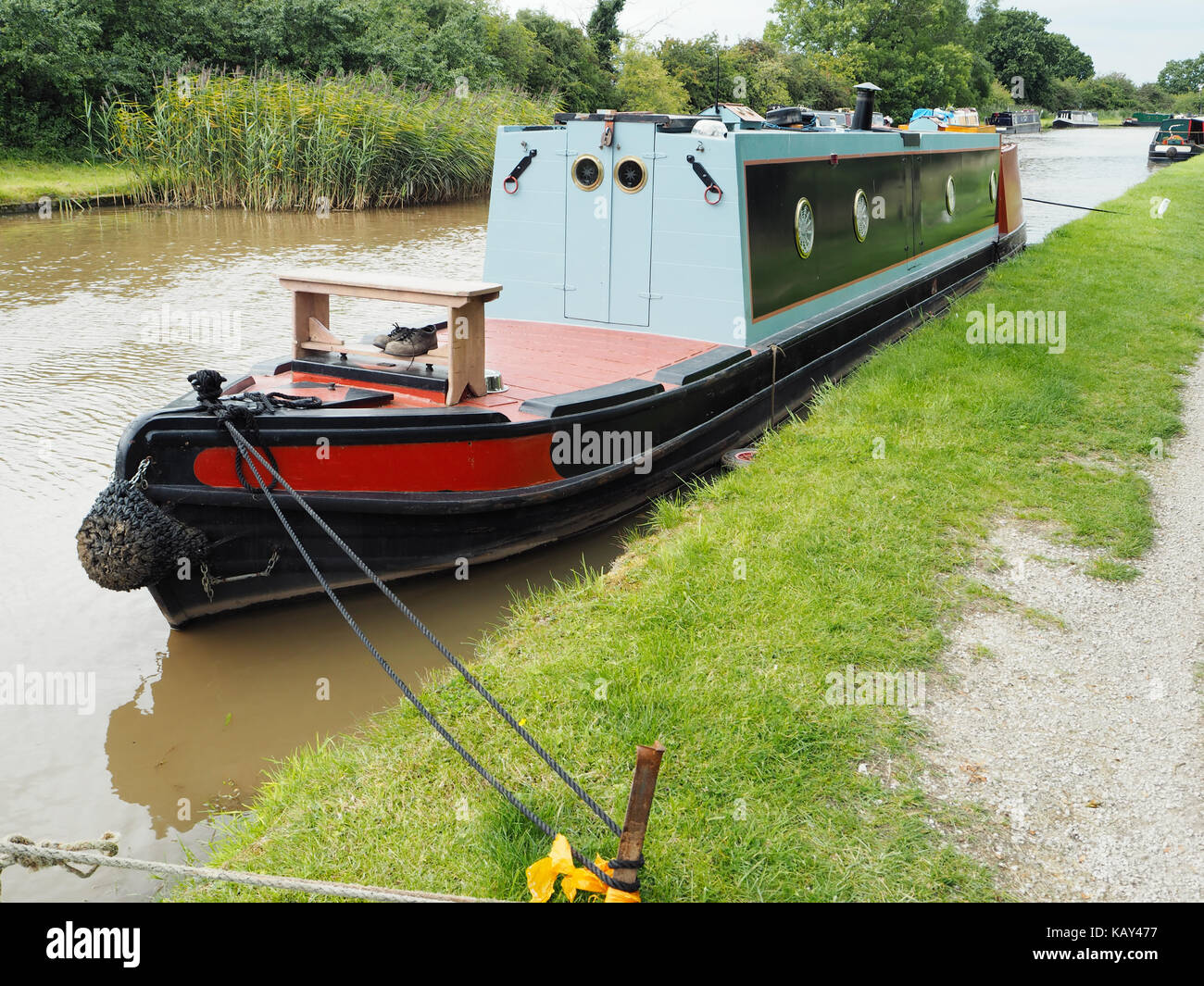 Butty narrowboat Anne, moored at Nantwich - Stock Image