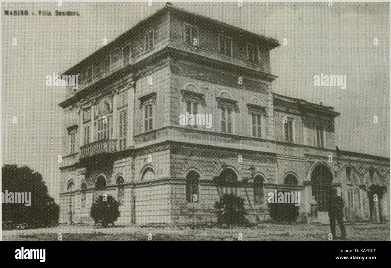 Villa Desideri a Belpoggio   Marino (RM) Stock Photo