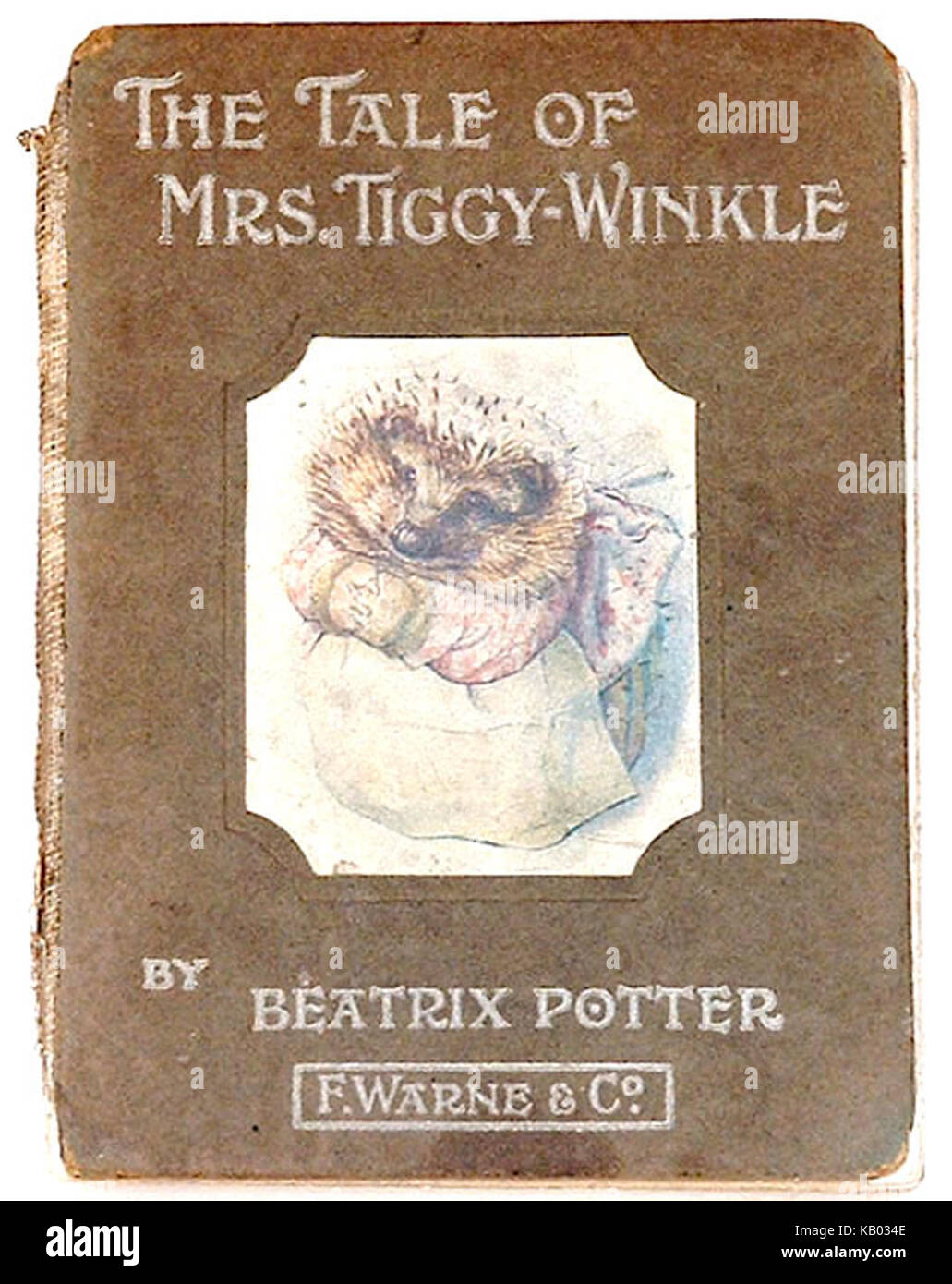 The Tale of Mrs Tiggy Winkle first edition cover - Stock Image