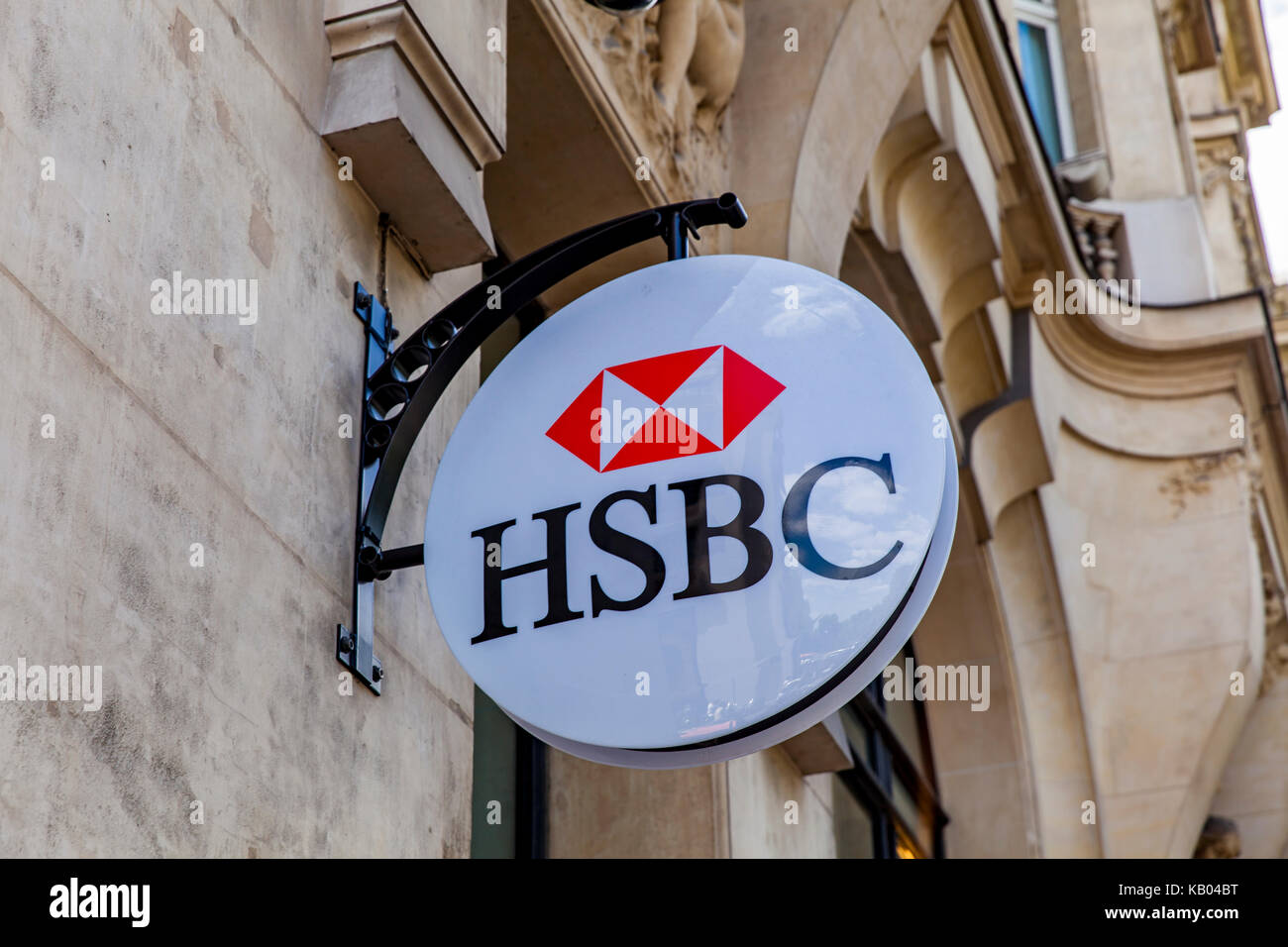 Detail from HSBC bank in Paris, France  With more than 7500 offices