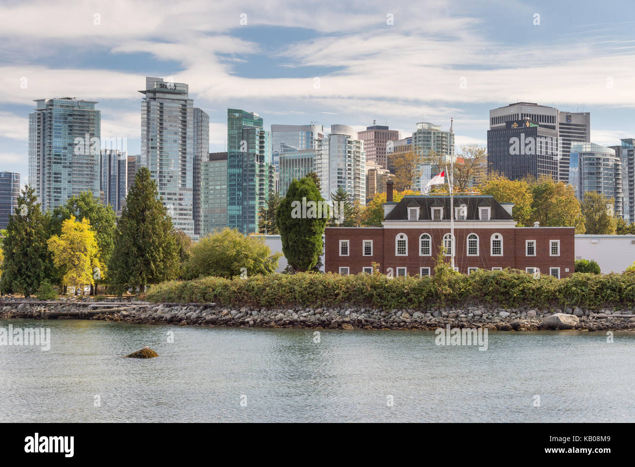 Vancouver, British Columbia, Canada - 12 September 2017: Naval Museum at H.M.C.S. Discovery in Stanley Park - Stock Image
