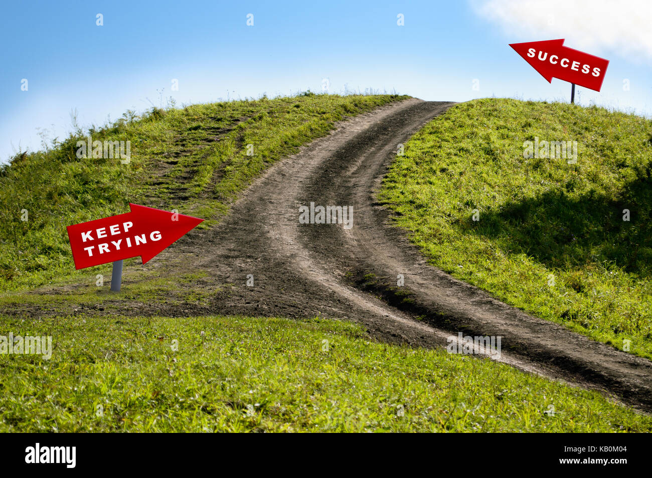 road to success concept - Stock Image