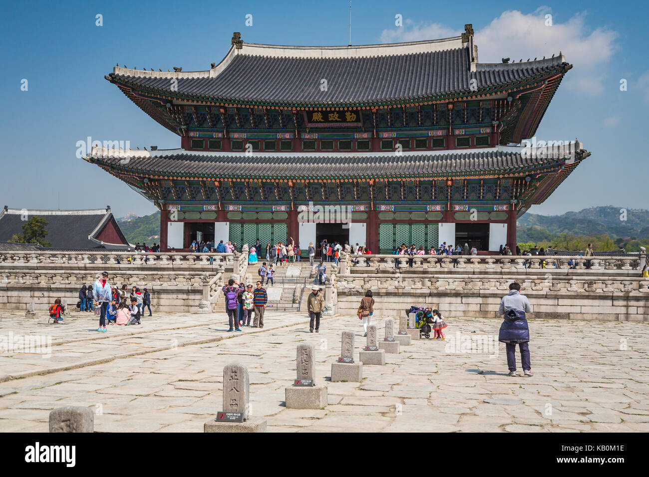 The Gyeongbokgung Royal Palace in Seoul, South Korea, Asia. - Stock Image