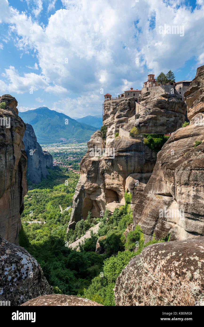 The Monastery of Varlaam, Meteora Monasteries, Kalambaka, Greece - Stock Image