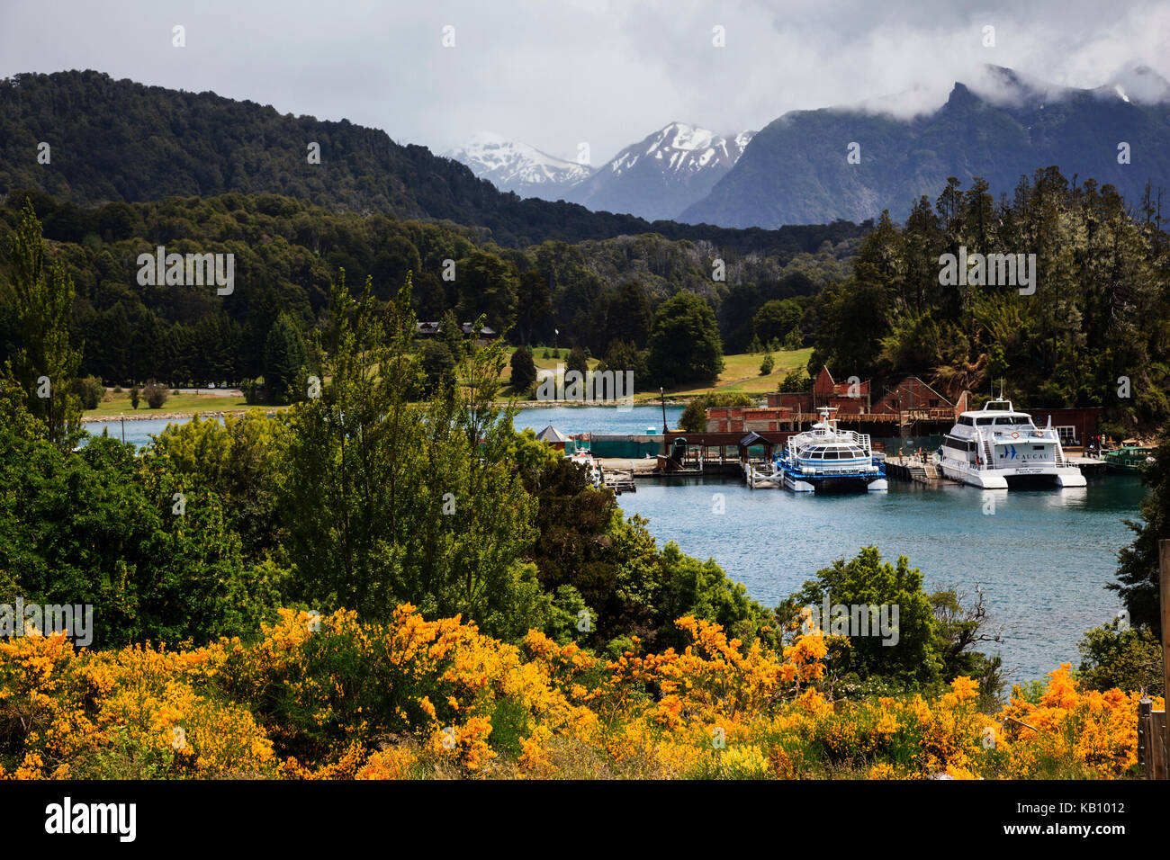 Lake Nahuel Huapi, Parque Nacional Nahuel Huapi National Park, lake region, Llao Llao near Bariloche, Patagonia, - Stock Image