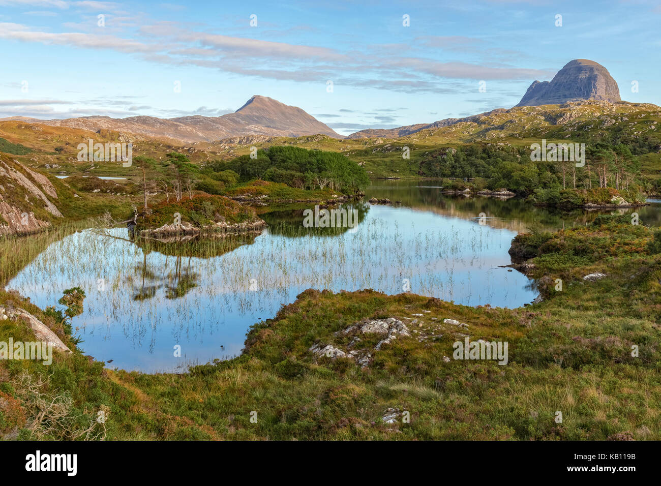 Loch Druim Suardalain, Assynt, Sutherland, Scotland, United Kingdom Stock Photo