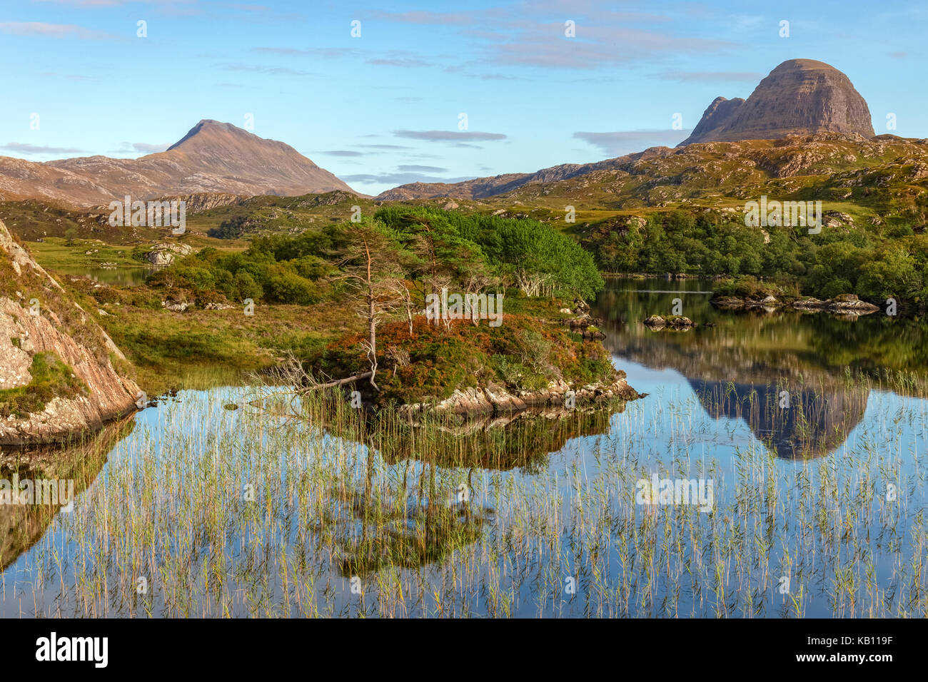 Loch Druim Suardalain, Assynt, Sutherland, Scotland, United Kingdom Stock Photo