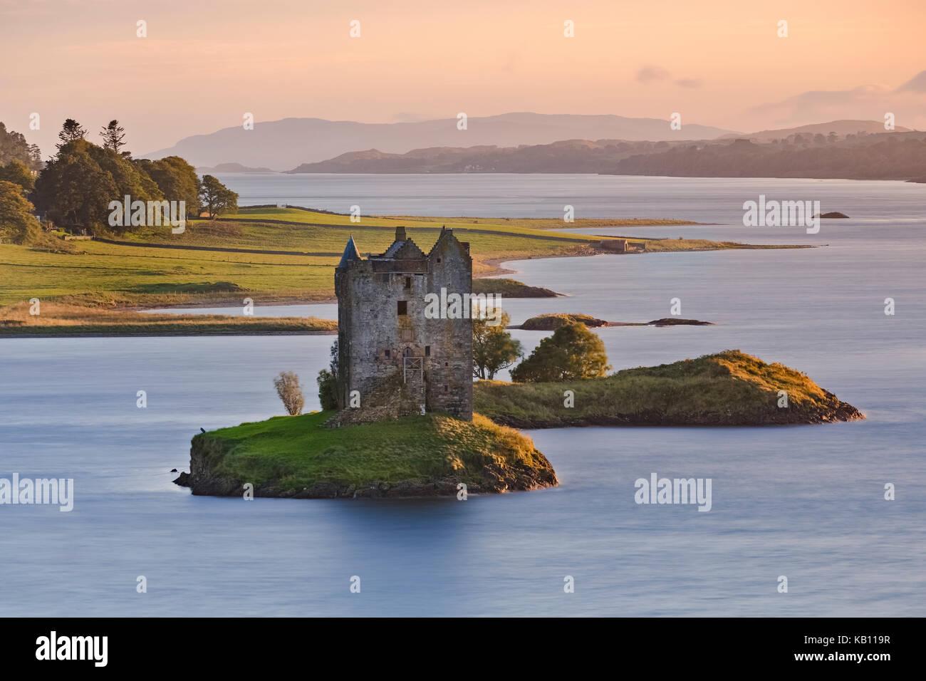 Castle Stalker, Highlands, Scotland, United Kingdom - Stock Image