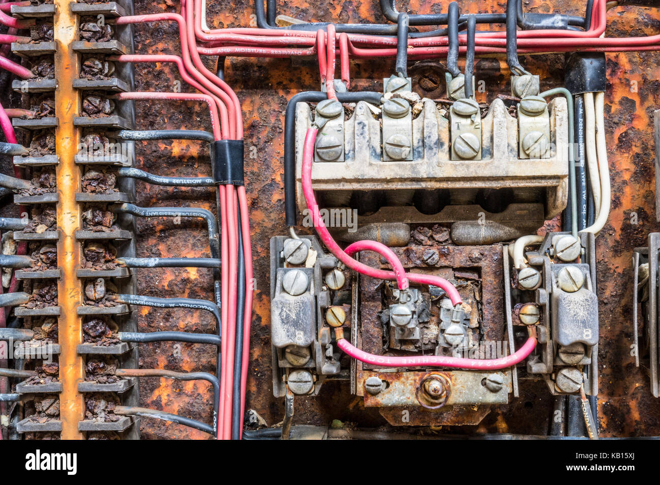 Old Electrical Panel Stock Photos Zinsco Fuse Box Rusted With Fuses And Contacts In An Abandoned Automobile Factory Iv