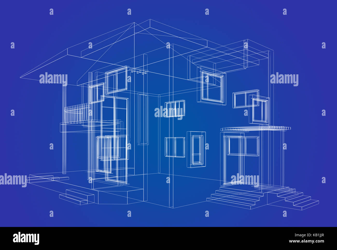 Design project building 3d render stock photos design project blueprint project building design and 3d rendering model my own stock image malvernweather Choice Image