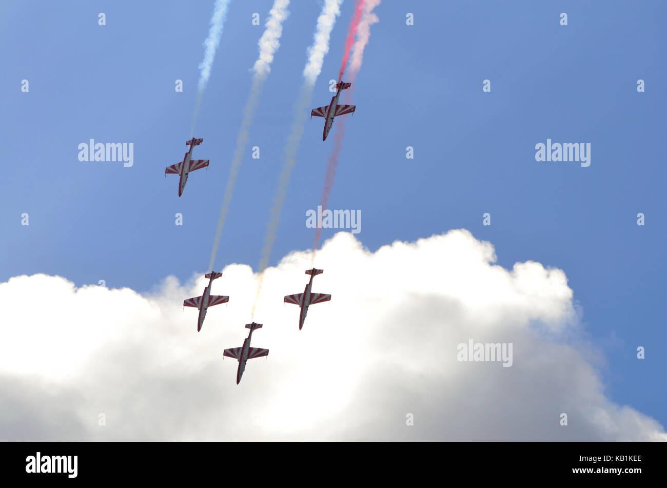 Germany, Berlin, ILA 2012, air display, aerobatic team, - Stock Image