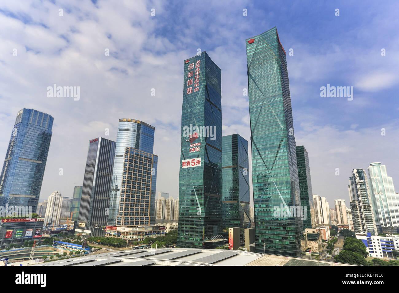 Skyscraper, Futian Becoming, Shenzhen, - Stock Image