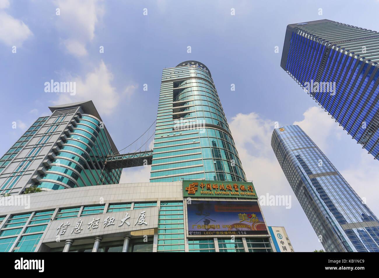 High rises Futian Becoming, Shenzhen, - Stock Image