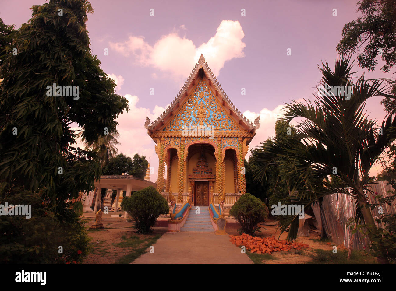 Asia, South-East Asia, Laos, Centrally Laos, Savannakhet, Mekong, temple, Stock Photo