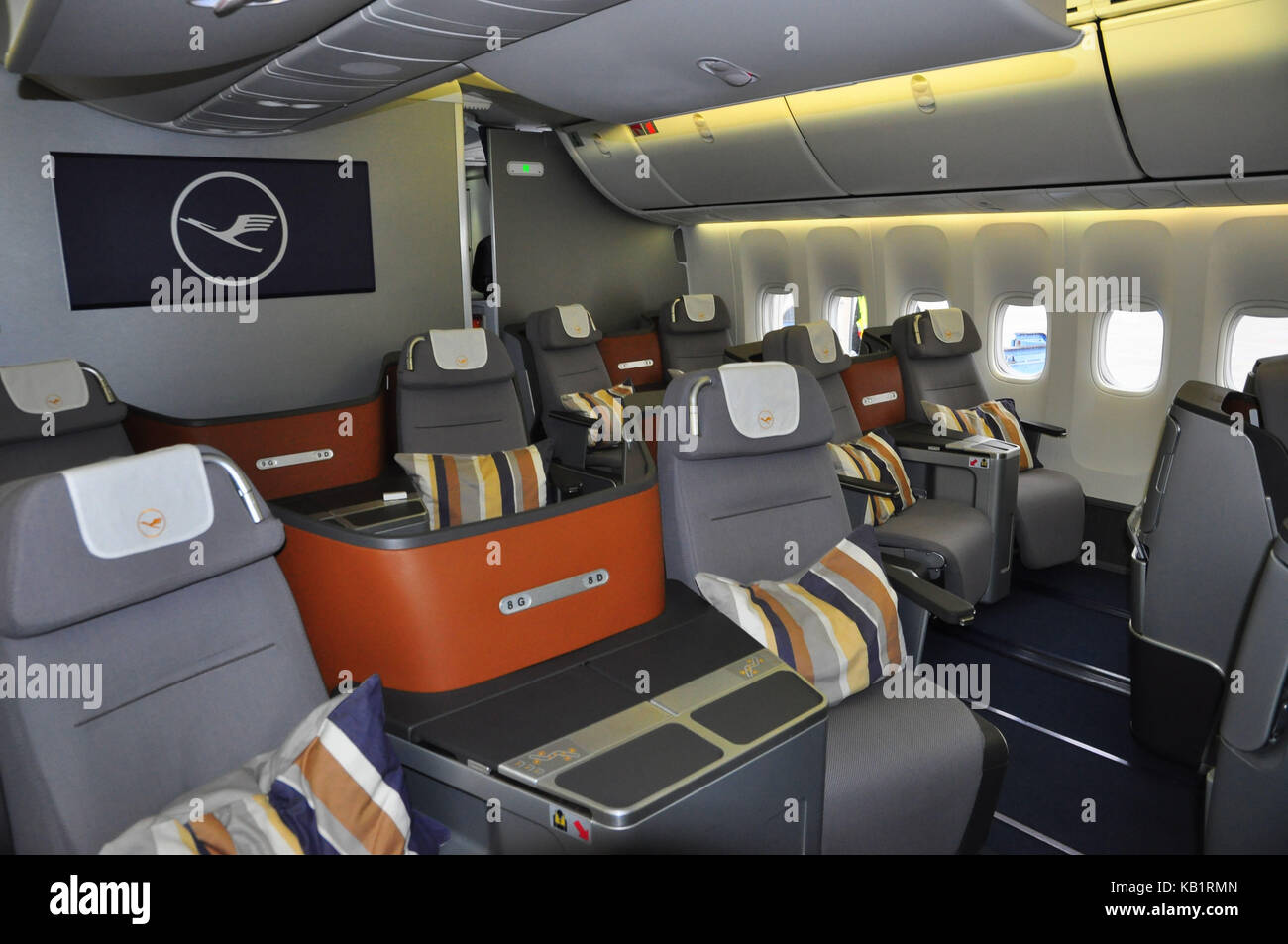 Civil aviation, air liner, cabin, business class, - Stock Image