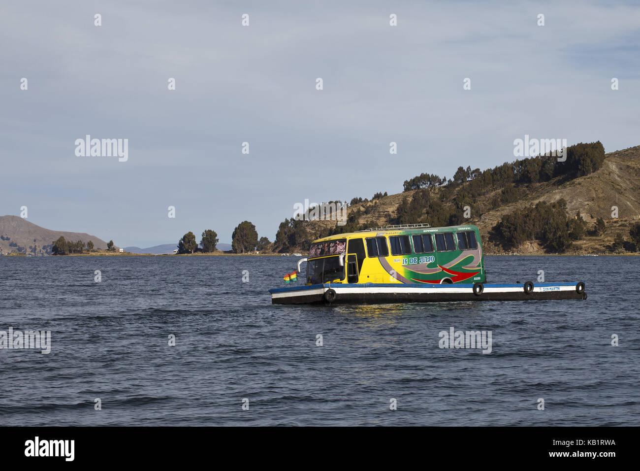 Bolivia, Titicacasee, Copacabana, crossing, - Stock Image