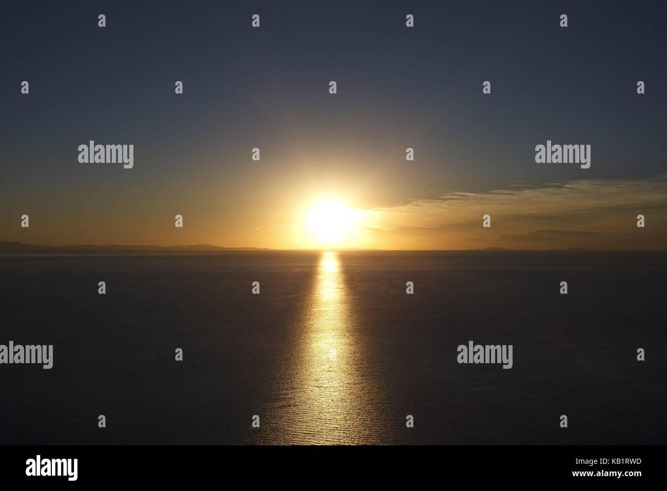 Bolivia, Titicacasee, Copacabana, sundown, - Stock Image