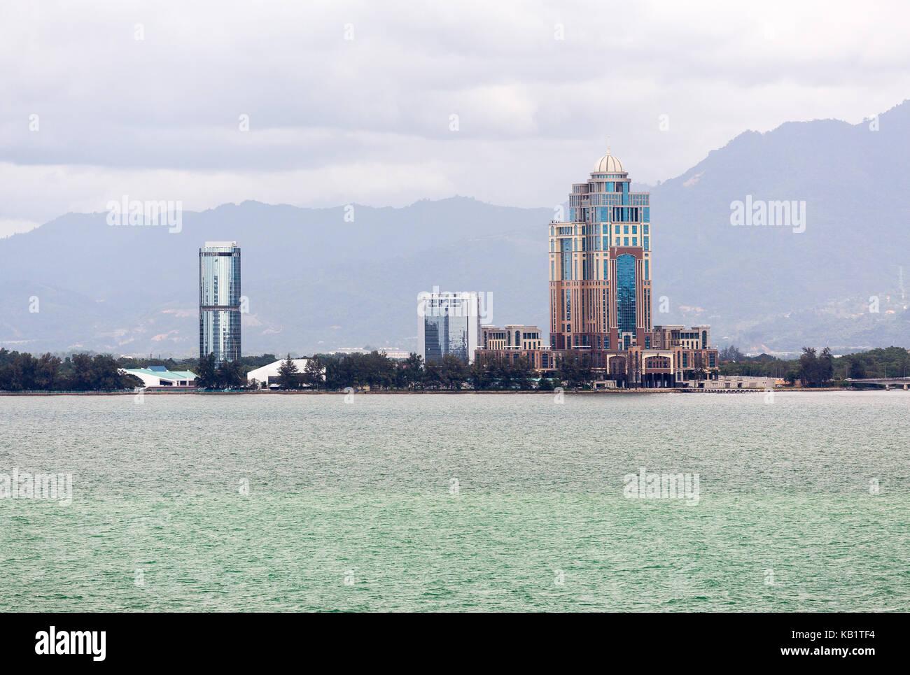 Just off yje coastline of Kota Kinabalu in Malaysia - Stock Image
