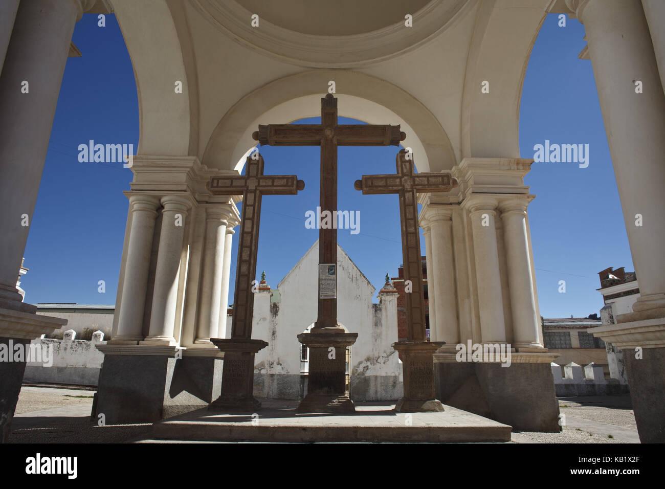 Bolivia, Titicacasee, Copacabana, Basilica de la Virgen de la Candelaria, - Stock Image