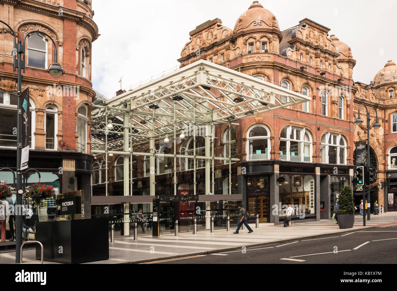 Exterior of the County Arcade and Victoria Arcade in Leeds City Centre - Stock Image