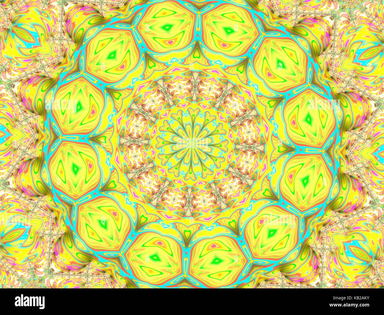 Strange shapes in Bright, Colorful Kaleidoscope l Pattern Stock ...
