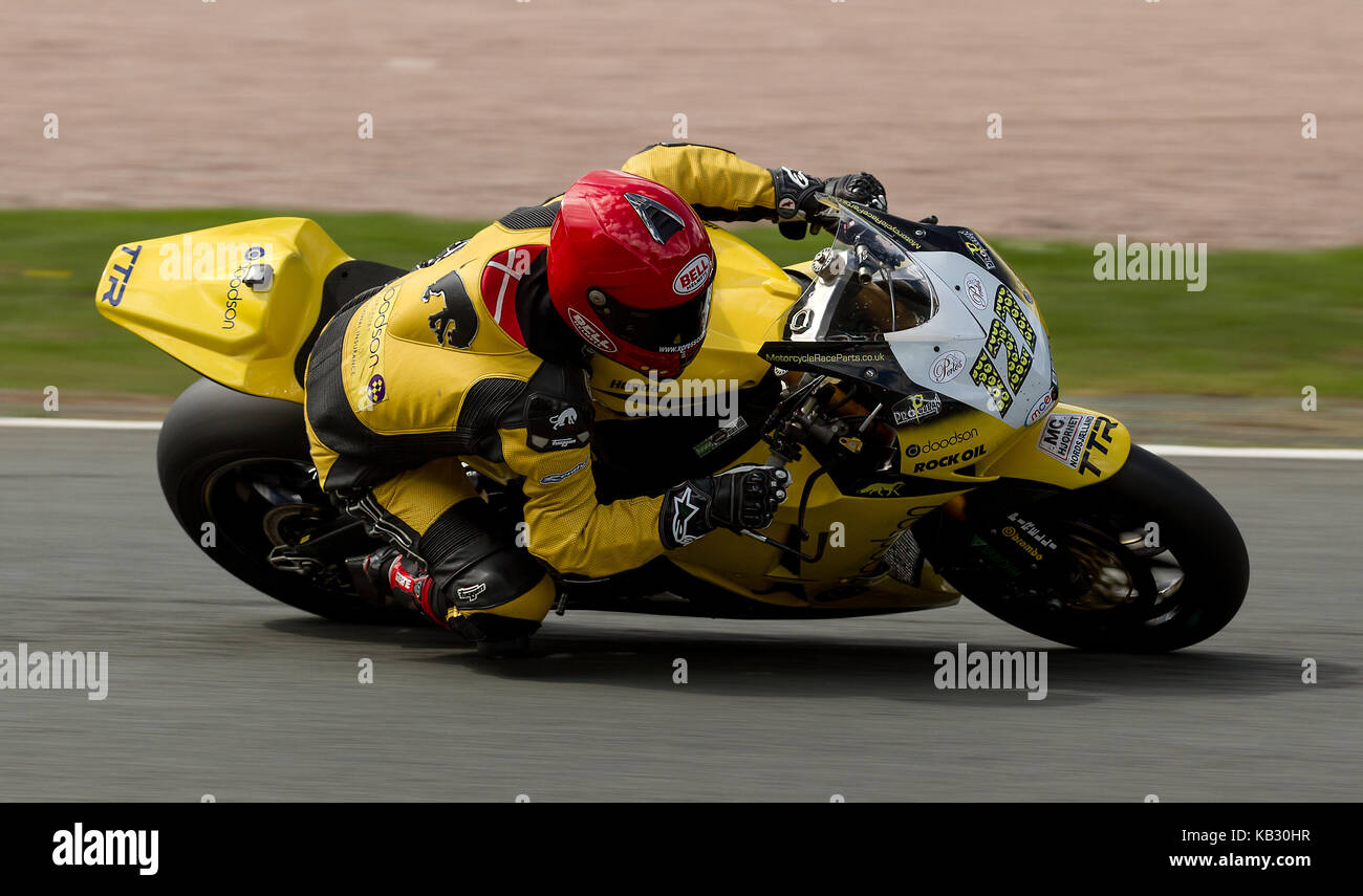 Riders From British superbike championship at Oulton Park, England, UK - Stock Image