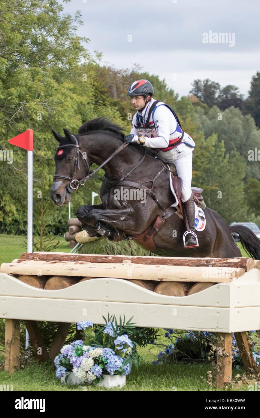 R Gis Prud'hon on TARASTRO, SsangYong Blenheim Palace International Horse Trials 16th September 2017 - Stock Image