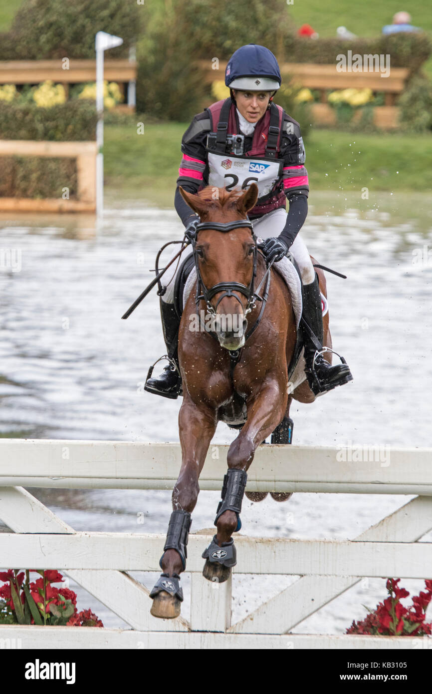 Sarah Bullimore on LILLY CORINNE, SsangYong Blenheim Palace International Horse Trials 16th September 2017 - Stock Image