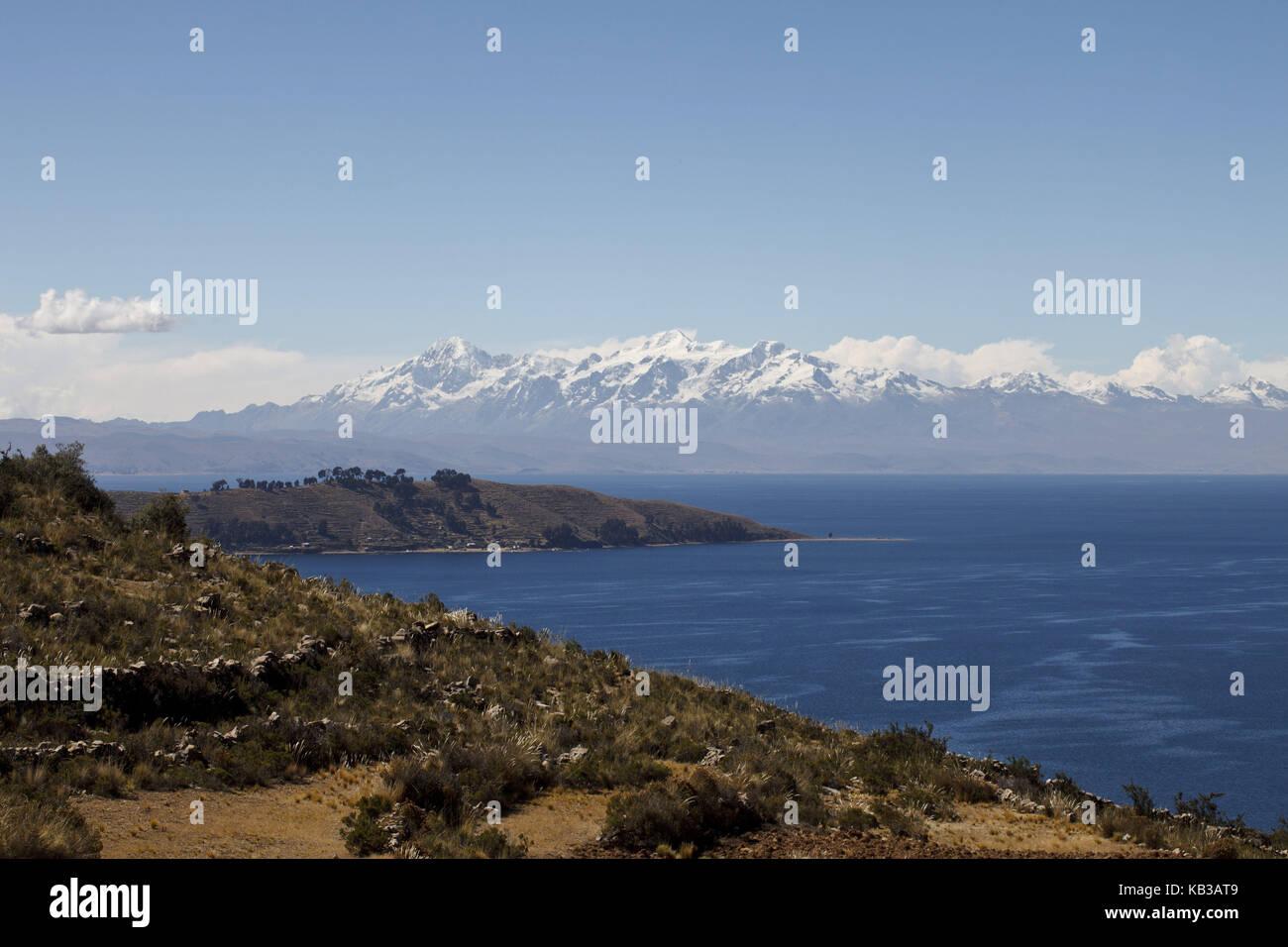 Bolivia, Titicacasee, Copacabana, - Stock Image