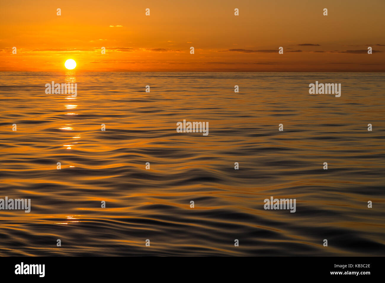 Sunset on the Bay of Biscay - Stock Image