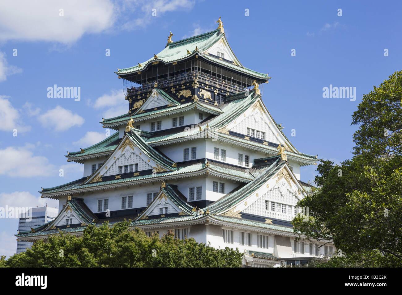 Japan, Honshu, Kansai, Osaka, castle, - Stock Image