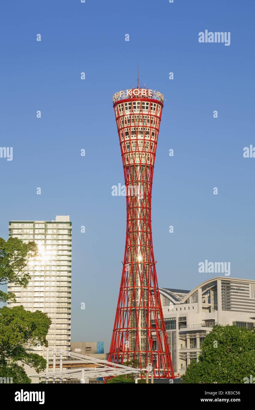 Japan, Honshu, Kansai, Kobe, Kobe port Tower, - Stock Image
