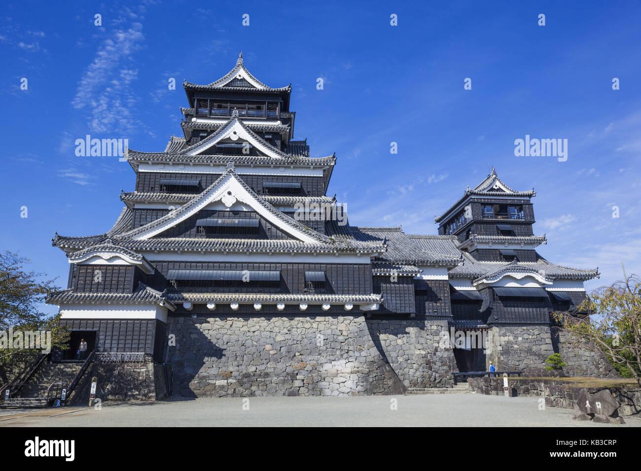 Japan, Kyushu, Kumamoto, castle Kumamoto, - Stock Image
