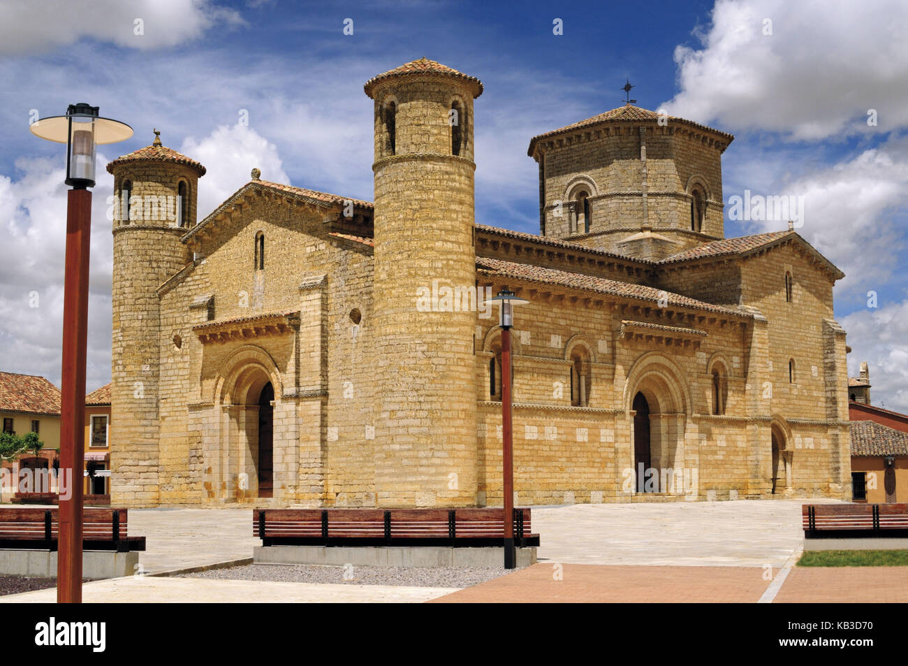 Spain, Kastilien-Leon, Romanesque church San Martin in Fromista, - Stock Image