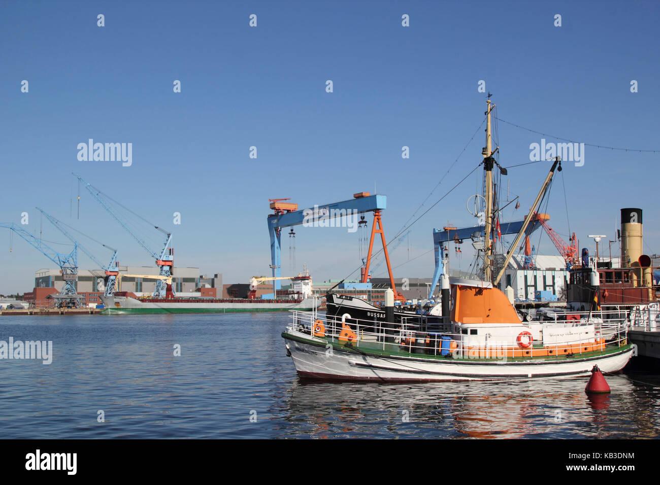 Kiel, harbour, - Stock Image
